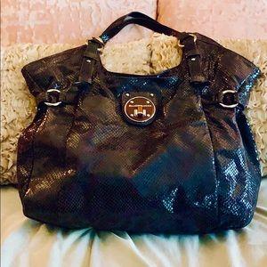 👜Elliott Lucca brown leather snakeskin bag
